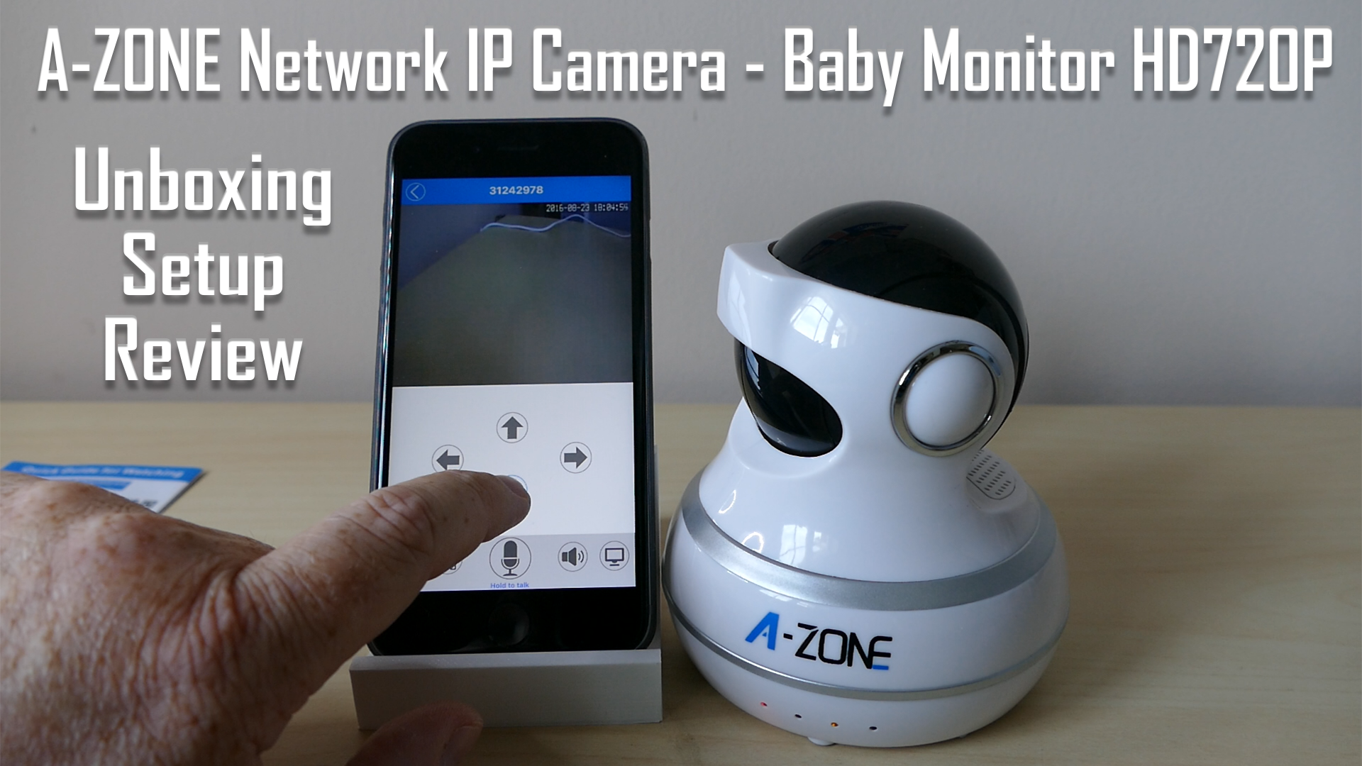 a zone network ip camera baby monitor hd720p unboxing setup and review. Black Bedroom Furniture Sets. Home Design Ideas